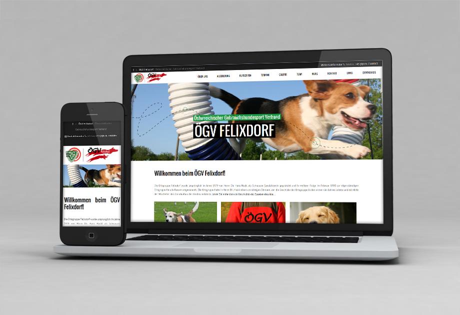Webprojekt ÖGV Felixdorf mit Responsive Design