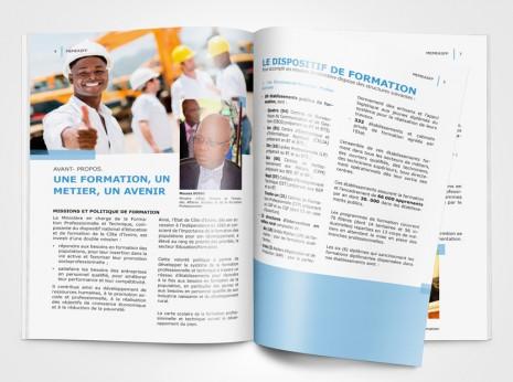 Printdesign Imagebroschüre für das UNIDO Ministerium MEMEASFP