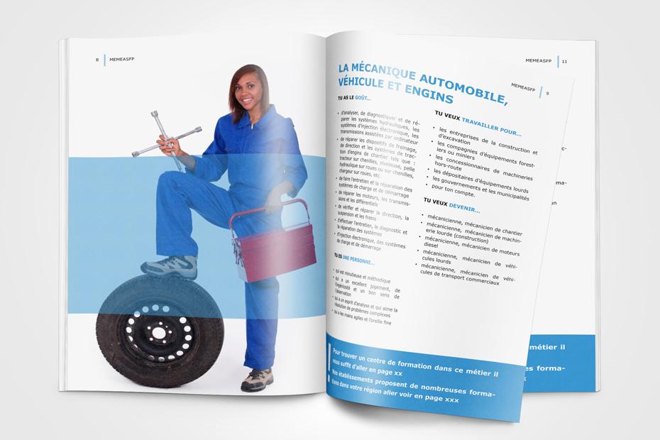 Design einer Broschüre für das UNIDO Ministerium MEMEASFP