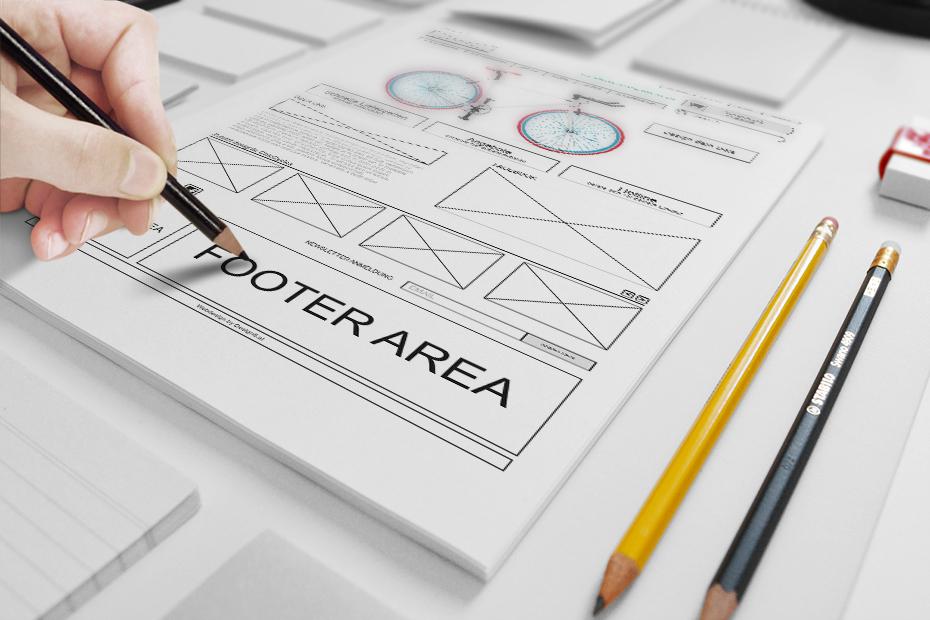 Der erste Schritt beim Webshop ist vorm Webdesign ein Wireframe