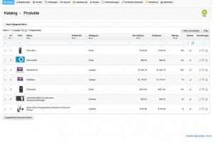 Allgemeine Funktionen Webshop
