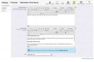 Produktpräsentation Webshop