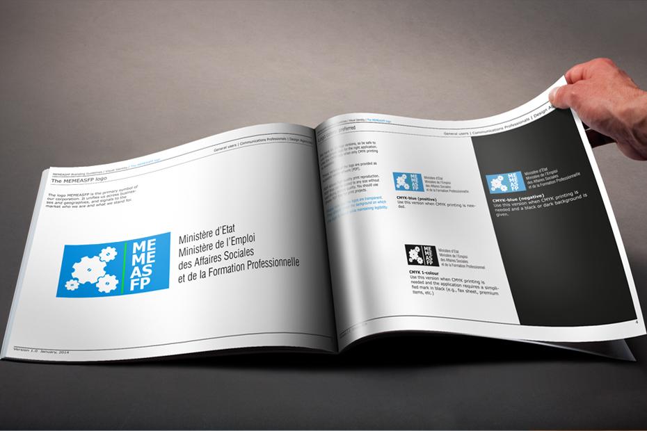 logodesign mit Guidline zum richtigen platzieren des Logos